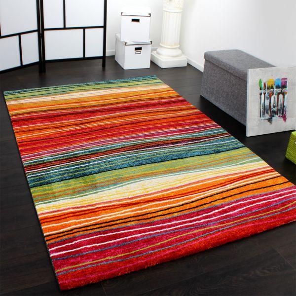 Teppich Modern Splash Designer Teppich Bunt Streifen Model Neu OVP