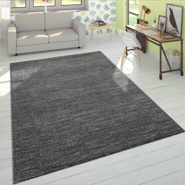 Kurzflor Teppich Einfarbig Wohnzimmer