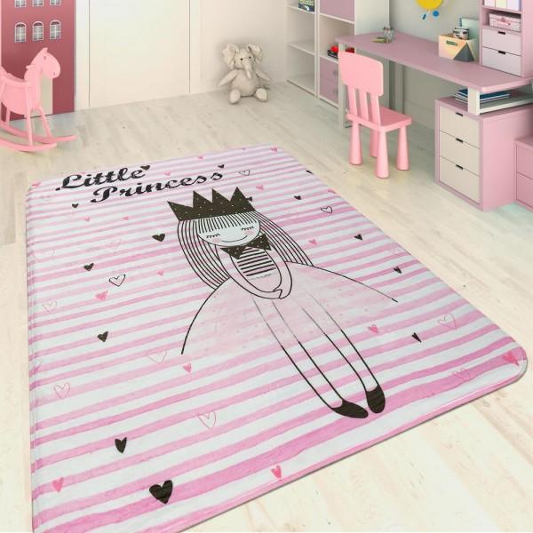Kinderteppich Kleine Prinzessin Rosa