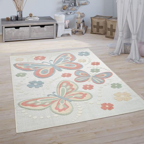Teppich Kinderzimmer Spielteppich Schmetterling