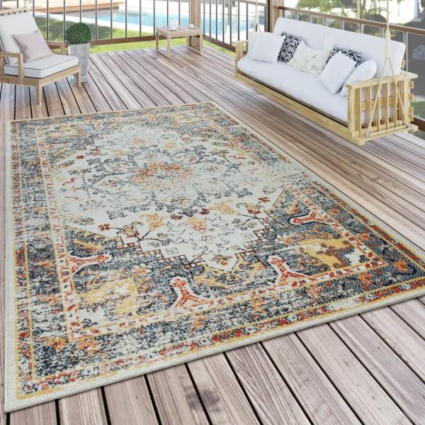 Orient-Teppich Outdoor Balkon Bunt