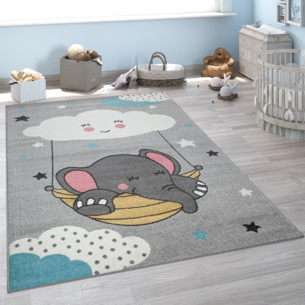Kinder-Teppich Kinderzimmer Elefant Wolke