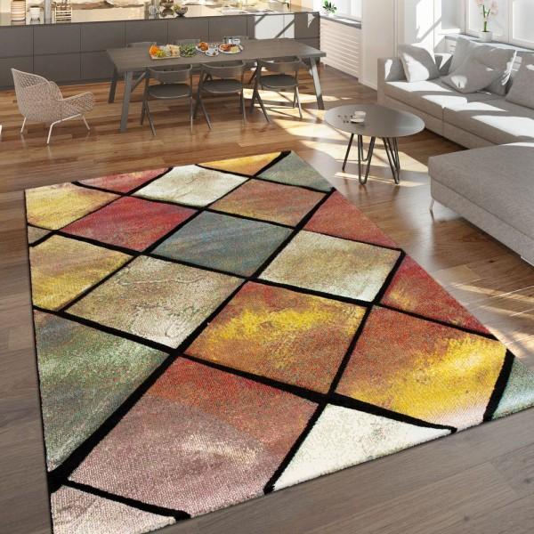 Teppich Rauten-Muster 3-D-Effekt Wohnzimer