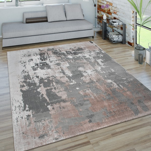 Teppich 3-D-Look Beton-Optik Wohnzimmer