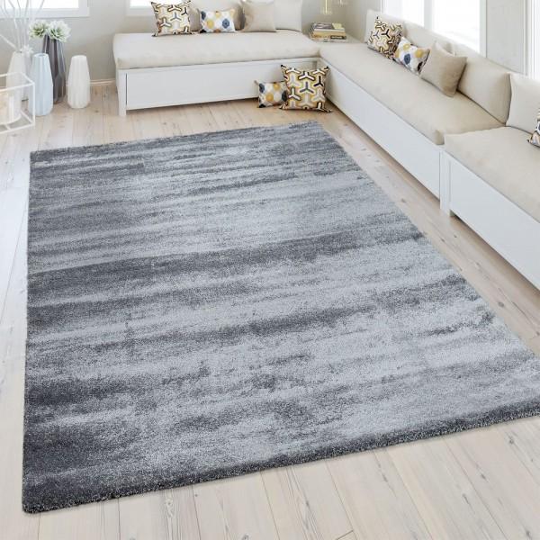 Kurzflor Teppich Einfarbig Grau