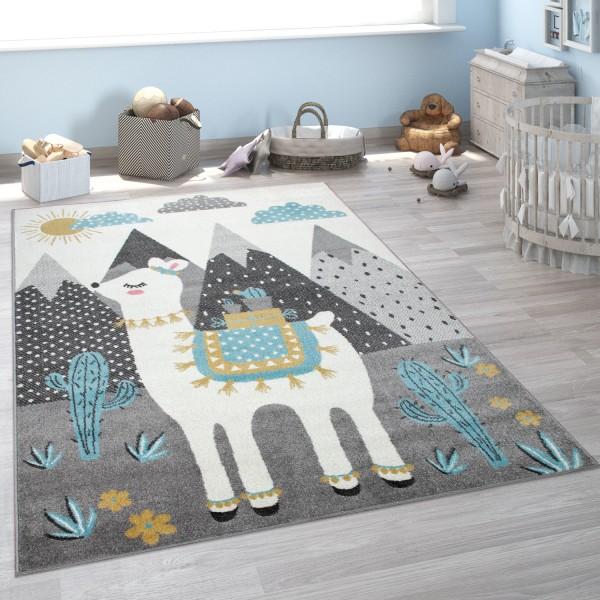 Kinder-Teppich Kinderzimmer Lama Berge