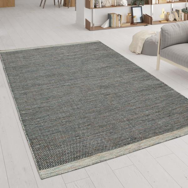 Living Room Rug Hand Woven Flat Weave Multicoloured