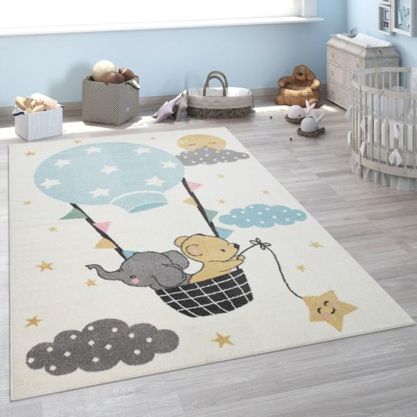 Kinder-Teppich Kinderzimmer Elefant Bär Mond