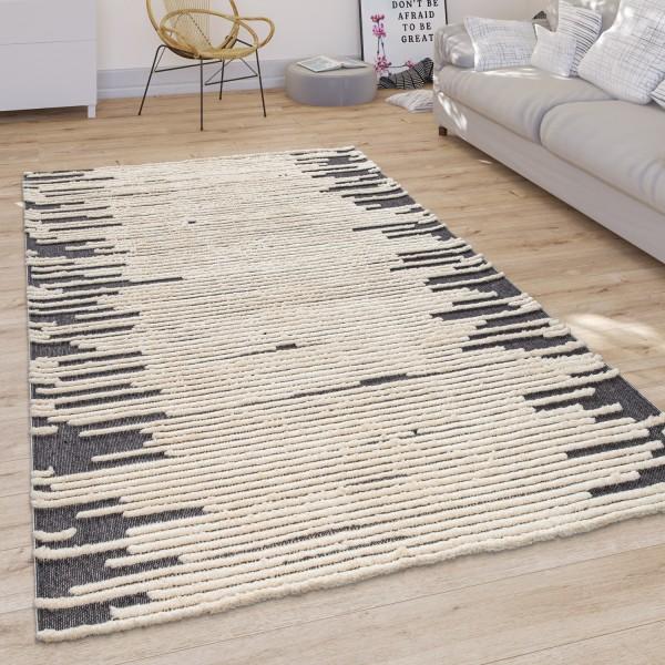 Teppich Wohnzimmer Skandi Cut-Out Muster
