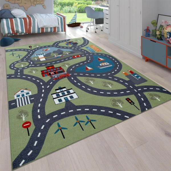 Spiel-Teppich Kinderzimmer Stadt-Design